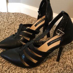 Black heels.